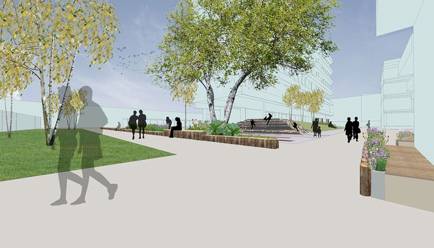 Harper square elephant and castle london one tree for Kinnear landscape architects
